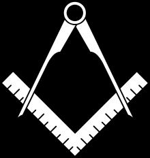 Symbol masonerii, tzw. kwadratowy kompas. Źr. Wikipedia