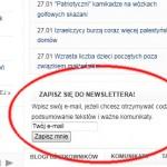 Newsletter na Nacjonalista.pl