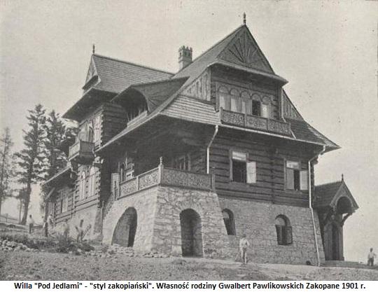 Willa Pod Jedlami zdjęcie z 1901 r.