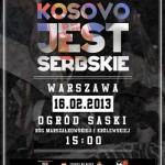 Demonstracja poparcia dla serbskiego Kosowa 2013