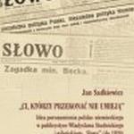 Jan Sadkiewicz – Idea porozumienia polsko-niemieckiego w publicystyce Władysława Studnickiego