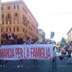Manifestacja Forza Nuova w obronie tradycyjnej rodziny