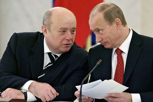 Władimir Putin i Michaił Fradkow, żydowski szef rosyjskiego wywiadu. Fot. nadesłana