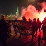 """Nacjonaliści w Moskwie: """"Doniecka Republiko Ludowa smaż się w piekle!"""""""