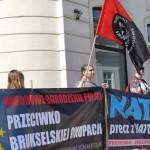 Nacjonaliści przed Pałacem Prezydenckim: Precz z UE i NATO!